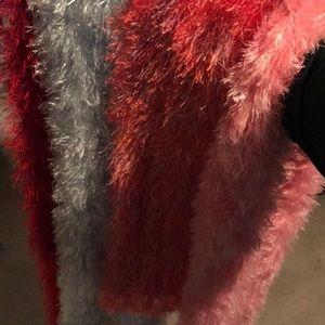 Fuzzy scarves